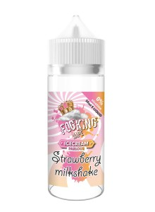 Течност FogKing Vape Strawberry Milkshake 50 ml (Nic Shot 10 ml)