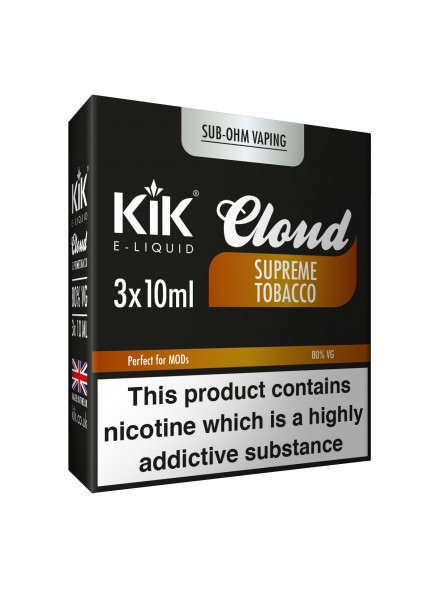 Течност Kik Cloud Supreme Tobacco 10 ml