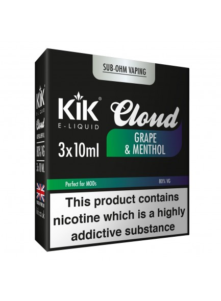 Течност Kik Cloud Grape & Menthol 10 ml